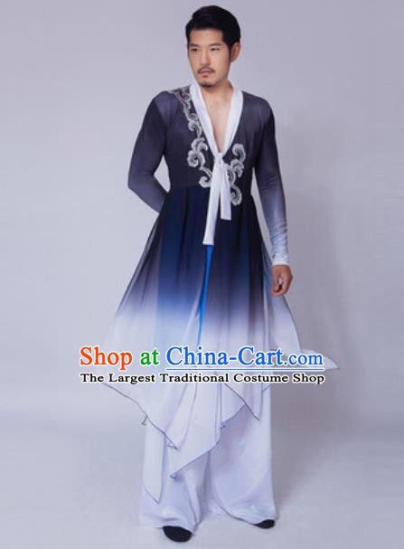 Chinese Traditional Folk Dance Navy Costume Classical Dance Drum Dance Clothing for Men