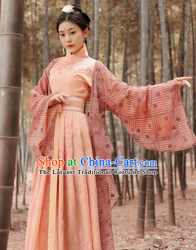 Chinese Ancient Nobility Lady Hanfu Dress Han Dynasty Imperial Consort Historical Costume for Women