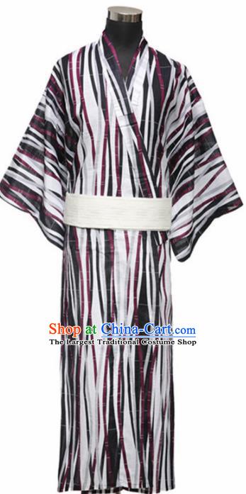 Traditional Japanese Samurai Kimono Robe Asian Japan