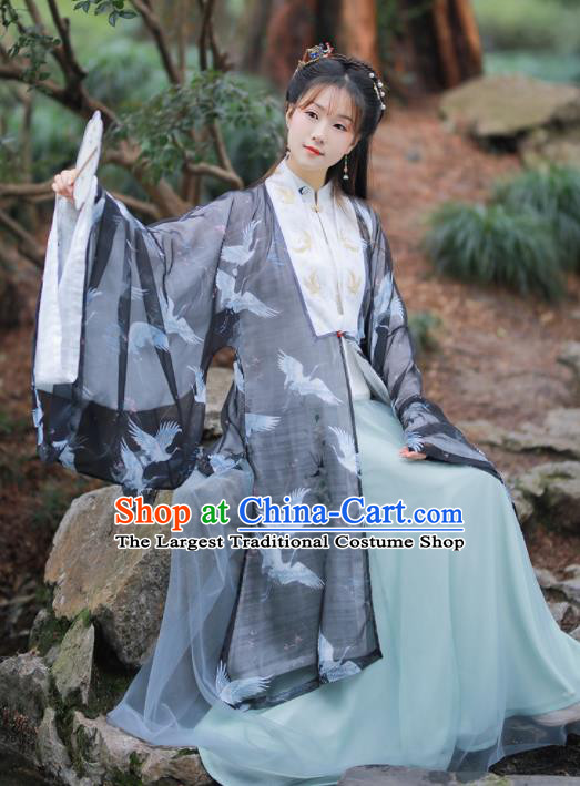 Chinese Ancient Princess Embroidered Hanfu Dress Ming Dynasty Court Lady Historical Costume for Women