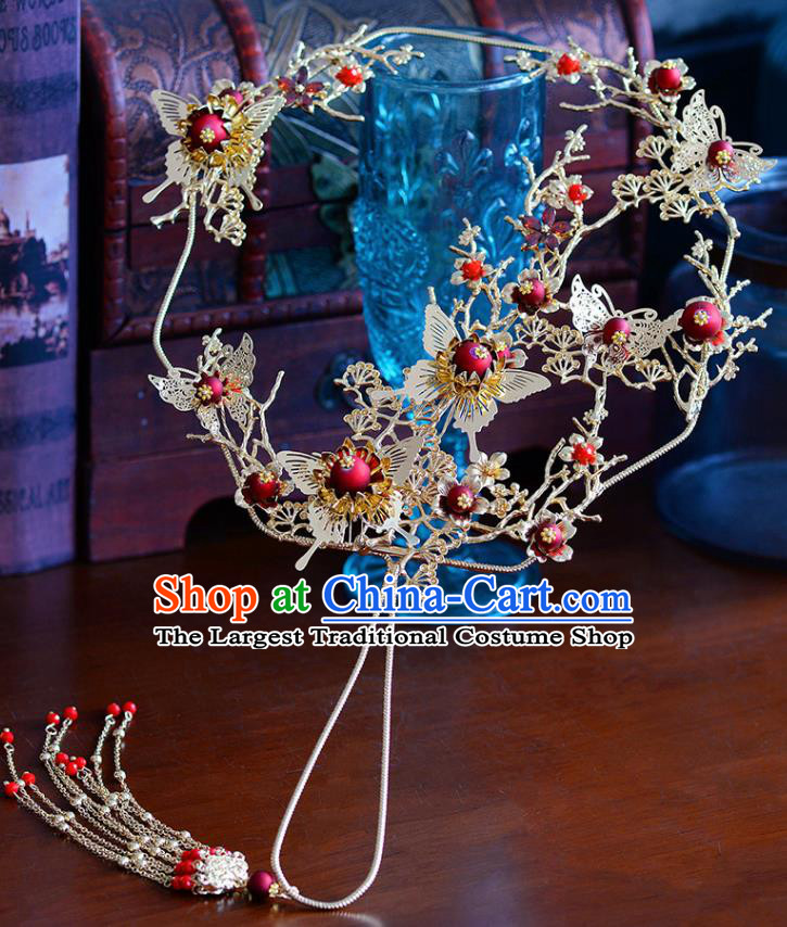 Traditional Chinese Ancient Butterfly Palace Fans Handmade Wedding Accessories Fans for Women