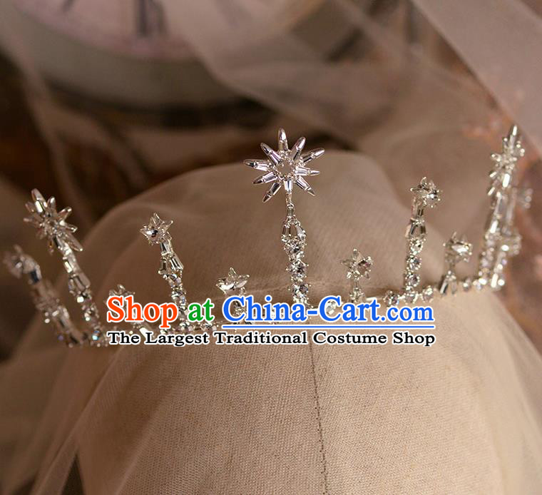 Handmade Wedding Hair Accessories Baroque Bride Zircon Royal Crown for Women