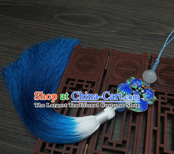 Traditional Chinese Ancient Palace Cloisonne Goldfish Brooch Handmade Hanfu Tassel Breastpin Pendant for Women