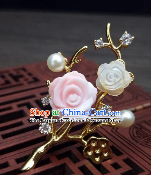 Traditional Chinese Ancient Palace Wintersweet Brooch Handmade Hanfu Breastpin Pendant for Women