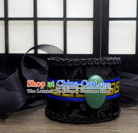 Traditional Chinese Ancient Nobility Childe Black Hairdo Crown Handmade Swordsman Hat Hair Accessories for Men