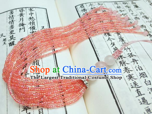 Traditional Chinese Ancient Brooch Handmade Hanfu Palace Breastpin Tassel Pendant for Women