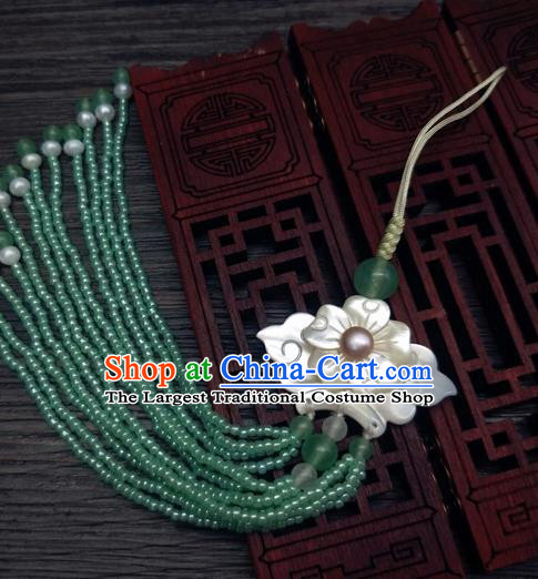 Traditional Chinese Ancient Palace Jade Brooch Handmade Hanfu Breastpin Pendant for Women