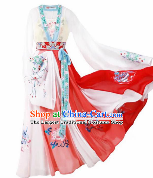 Chinese Traditional Tang Dynasty Court Historical Costume Ancient Imperial Consort Embroidered Hanfu Dress for Women