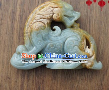 Handmade Chinese Ancient Jade Carving Pi Xiu Pendant Traditional Jade Craft Jewelry Accessories