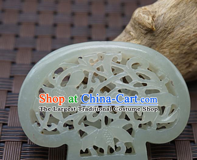 Handmade Chinese Ancient Jade Carving Sachet Pendant Traditional Jade Craft Jewelry Decoration Accessories
