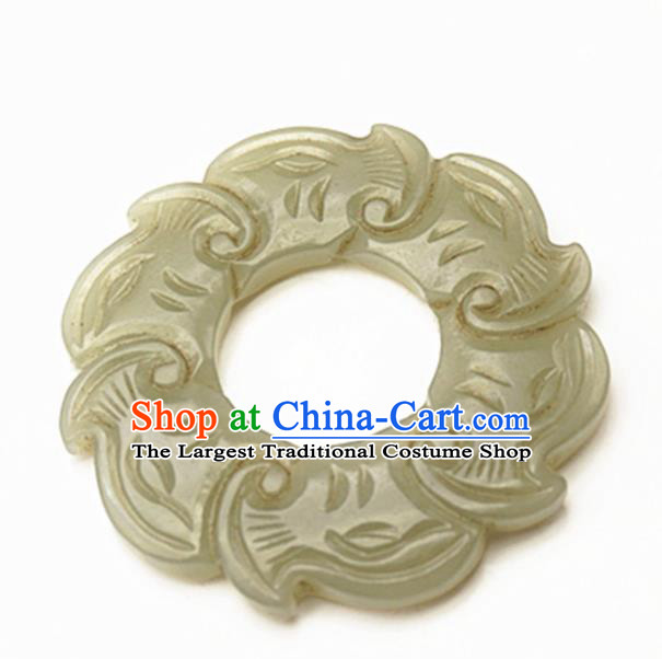 Handmade Chinese Carving Jade Pendant Traditional Jade Craft Jewelry Accessories