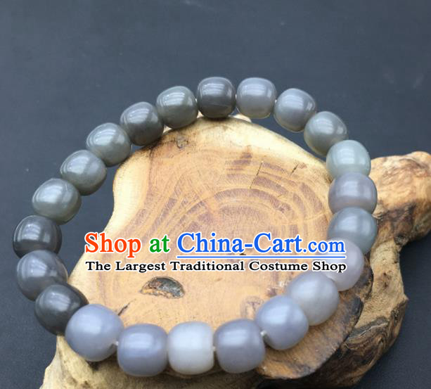 Chinese Handmade Jade Craft Carving Jade Bracelet Jewelry Accessories