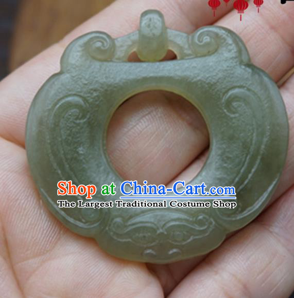 Chinese Handmade Carving Jade Craft Jewelry Accessories Traditional Jade Necklace Pendant