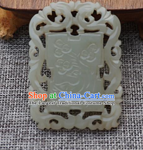 Chinese Handmade Carving Jade Pendant Traditional Jade Craft Jewelry Accessories