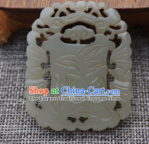 Chinese Handmade Carving Peach Jade Pendant Traditional Jade Craft Jewelry Accessories