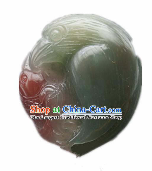Chinese Handmade Carving Eagle Fish Jade Pendant Traditional Jade Craft Jewelry Accessories