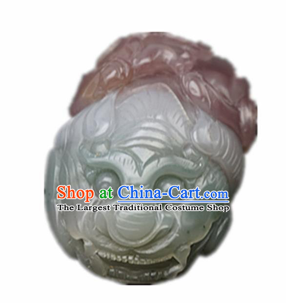 Chinese Handmade Carving Pi Xiu Jade Pendant Traditional Jade Craft Jewelry Accessories