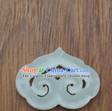 Chinese Handmade Jewelry Accessories Carving Auspicious Cloud Jade Pendant Ancient Traditional Jade Craft Decoration