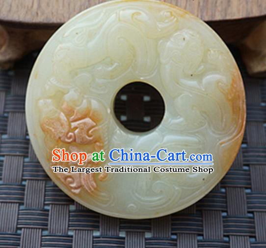 Chinese Handmade Jewelry Accessories Carving Pi Xiu Jade Pendant Ancient Traditional Jade Craft Decoration