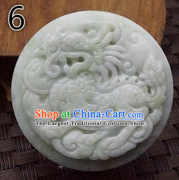 Chinese Handmade Jewelry Accessories Carving Kylin Jade Pendant Ancient Traditional Jade Craft Decoration