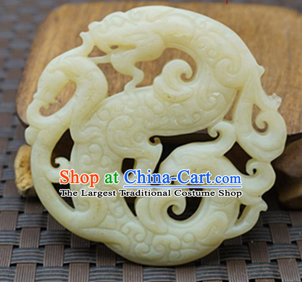 Chinese Handmade Carving Jade Pendant Jewelry Accessories Ancient Traditional Jade Craft Decoration