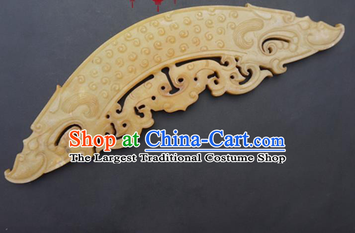 Chinese Handmade Carving Bridge Shape Jade Pendant Jewelry Accessories Ancient Traditional Jade Craft Decoration