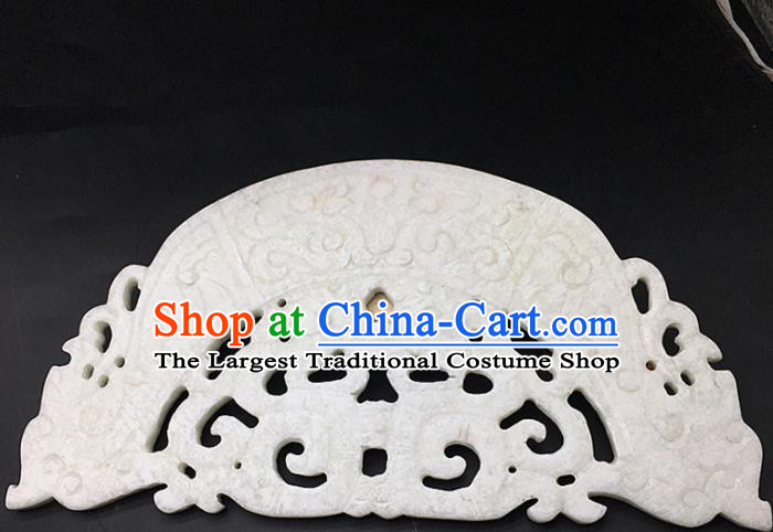 Chinese Handmade Jade Carving Pendant Jewelry Accessories Ancient Traditional Jade Craft Decoration
