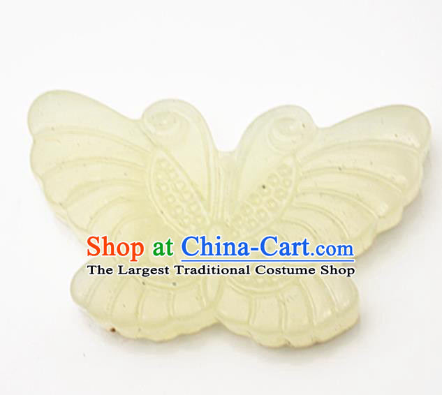 Handmade Chinese Ancient Jade Carving Butterfly Pendant Traditional Jade Craft Jewelry Decoration Accessories