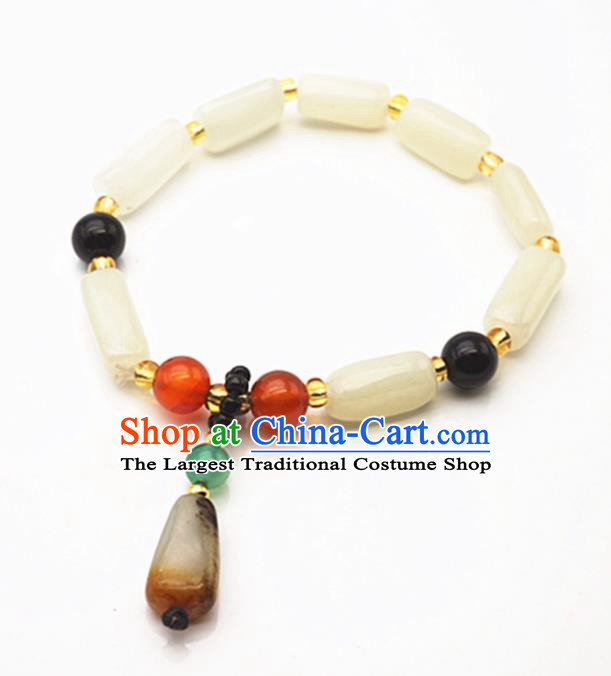 Chinese Handmade Ancient Jade Bracelet Traditional Jade Bangle Jewelry Accessories for Women for Men
