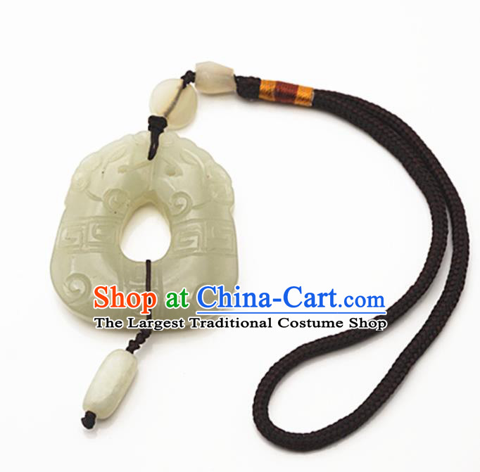 Chinese Handmade Jade Craft Carving Jade Pendant Waist Accessories Jade Jewelry Decoration