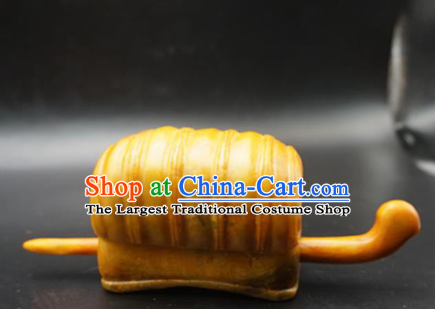 Chinese Handmade Jade Hairdo Crown Ancient Jade Hairpins Hair Accessories for Women for Men