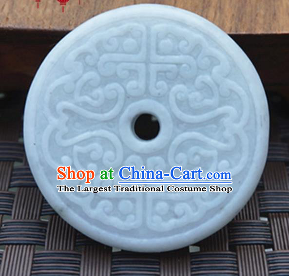 Chinese Ancient Wedding Accessories Carving Jade Pendant Traditional Handmade Jade Craft Jewelry Decoration