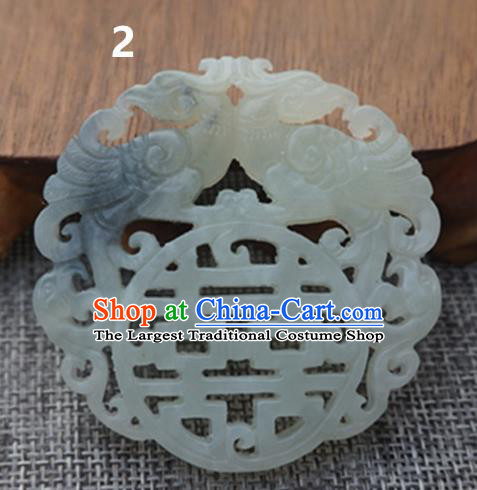 Chinese Ancient Wedding Carving Jade Pendant Traditional Handmade Jade Craft Jewelry Decoration Accessories