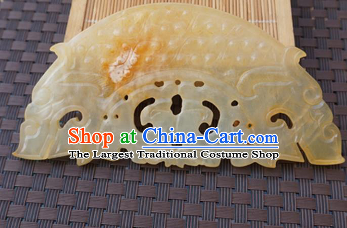 Chinese Handmade Jade Carving Bridge Shape Pendant Jewelry Accessories Ancient Traditional Jade Craft Decoration