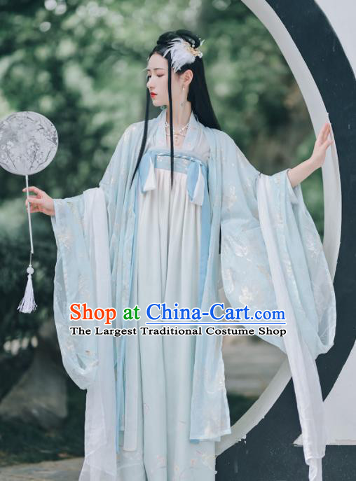 Chinese Ancient Imperial Consort Hanfu Dress Traditional Drama Tang Dynasty Court Lady Historical Costume for Women