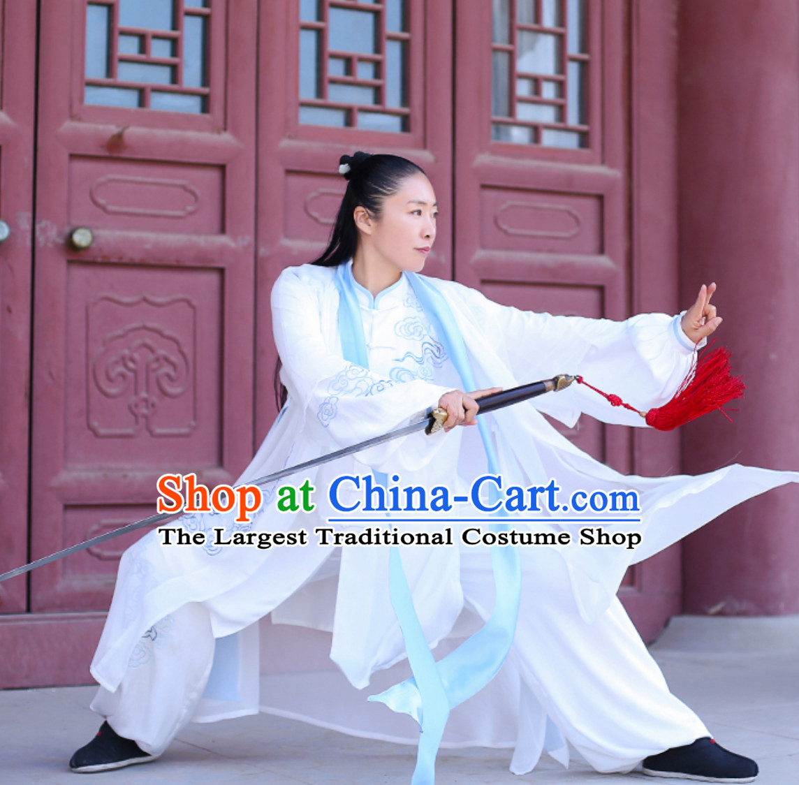 Top Chinese Traditional Competition Championship Tai Chi Taiji Kung Fu Master Suit Dresses Complete Set