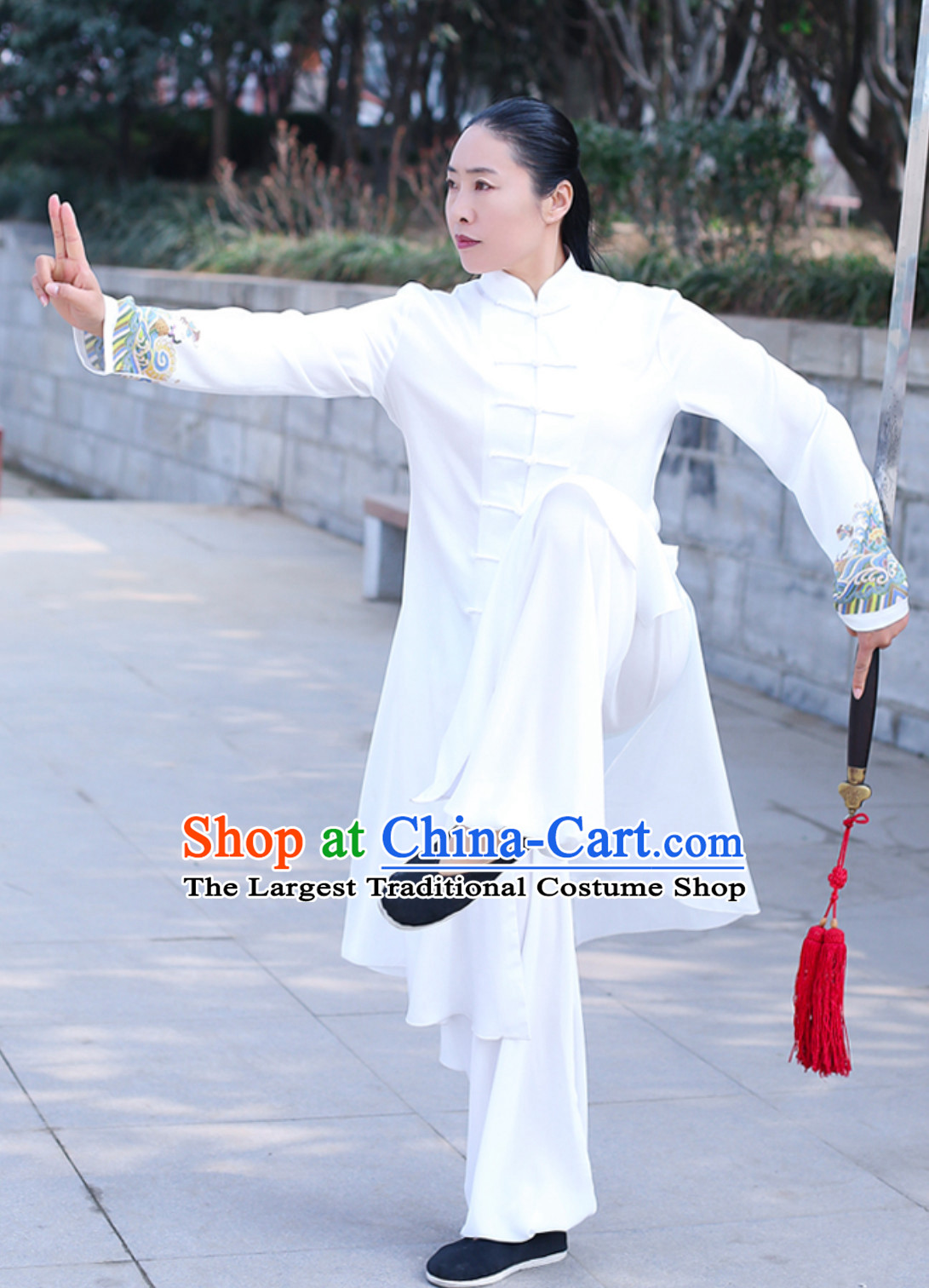 Top Chinese Traditional Competition Championship Tai Chi Taiji Kung Fu Wing Chun Kungfu Tai Ji Sword Gong Fu Master Suits Clothes Complete Set
