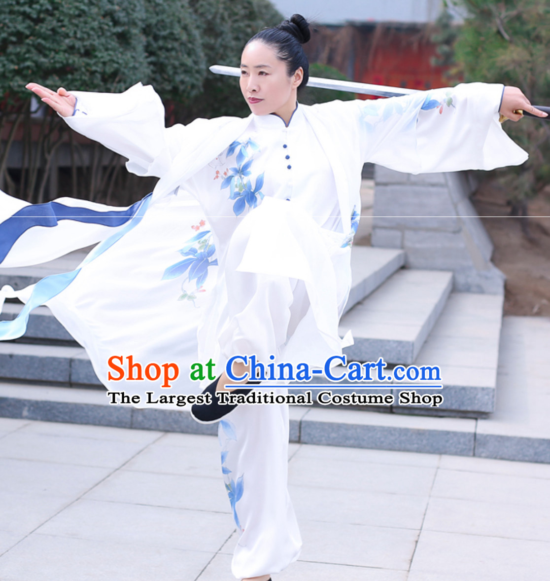 Top Chinese Traditional Competition Championship Tai Chi Taiji Kung Fu Wing Chun Kungfu Tai Ji Sword Gong Fu Master Stage Performance Suits Clothes Complete Set