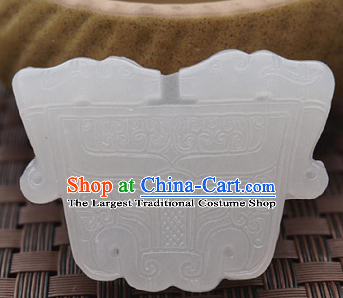 Handmade Chinese Carving Beast Jade Pendant Jewelry Accessories Ancient Traditional Jade Craft Decoration