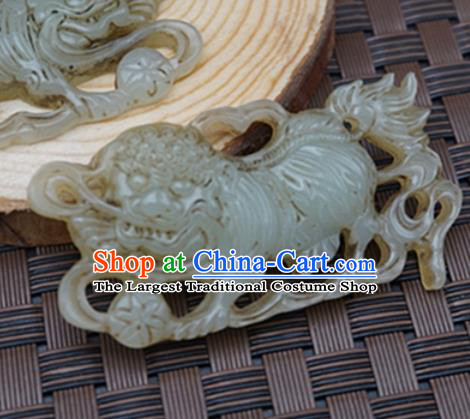 Handmade Chinese Carving Tiger Jade Pendant Ancient Traditional Jade Craft Decoration