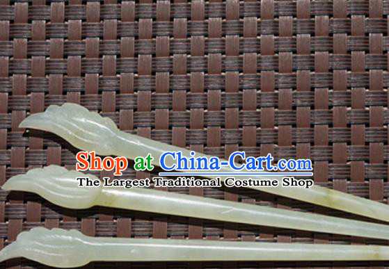 Handmade Chinese Jade Hair Clip Ancient Palace Jade Carving Wing Hairpins Hair Accessories for Women for Men