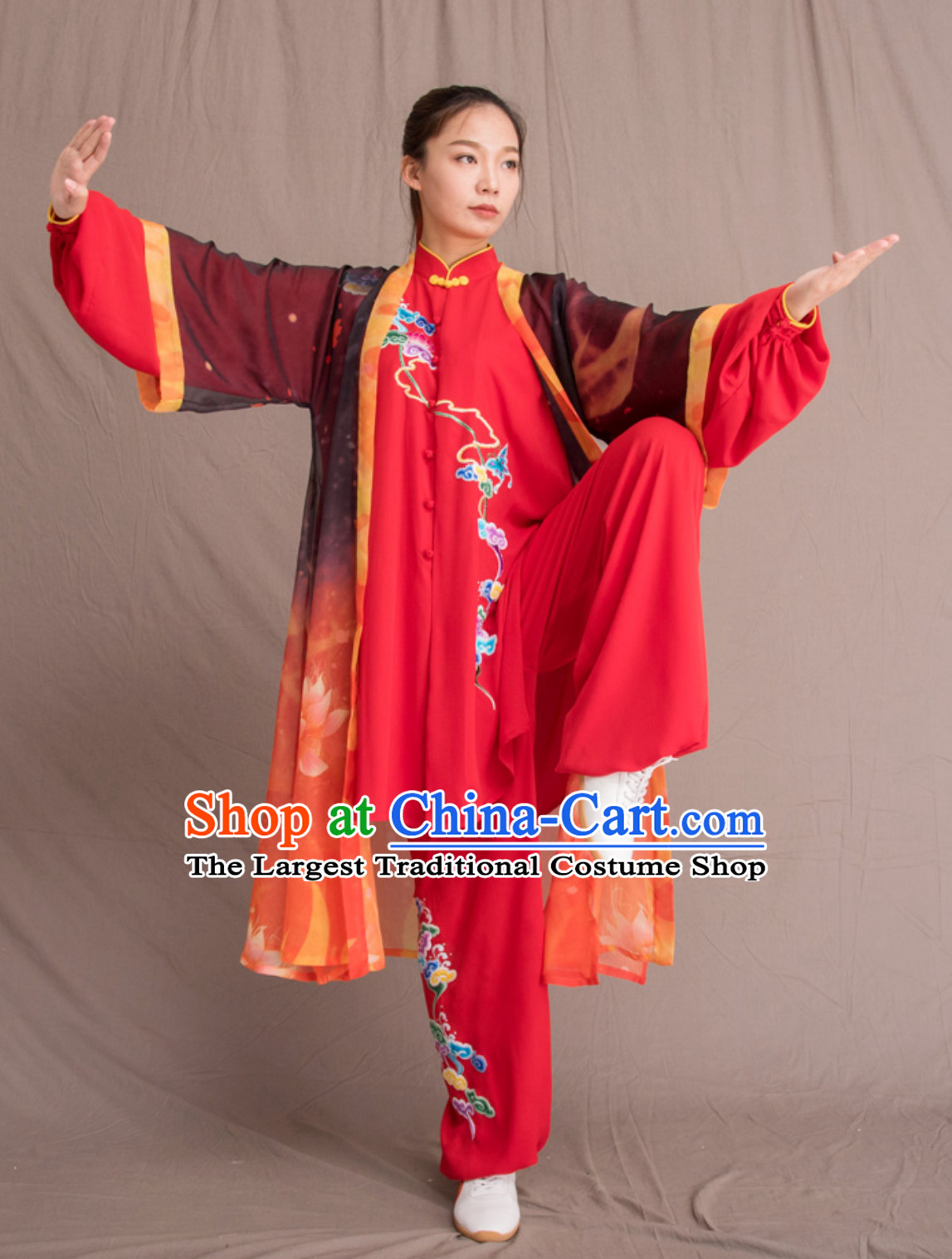 Top Chinese Classical Competition Championship Professional Tai Chi Uniforms Taiji Kung Fu Wing Chun Kungfu Tai Ji Sword Master Dress Clothing Suits Clothing Full Set