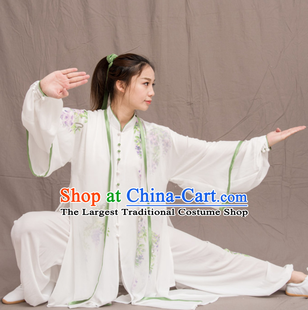 Grape Good Meaning Top Chinese Classical Competition Championship Professional Tai Chi Uniforms Taiji Kung Fu Wing Chun Kungfu Tai Ji Sword Master Dress Clothing Suits Clothing Clothes Complete Set