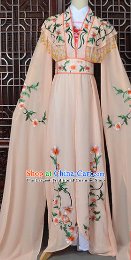 Handmade Chinese Beijing Opera Princess Costume Peking Opera Actress Embroidered Orange Dress for Women