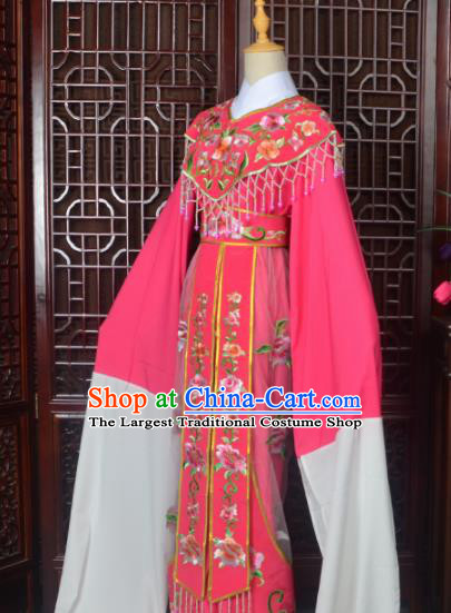 Handmade Chinese Beijing Opera Actress Costume Peking Opera Princess Embroidered Rosy Dress for Women