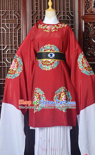 Handmade Chinese Beijing Opera Old Women Red Costume Peking Opera Actress Embroidered Dress for Women