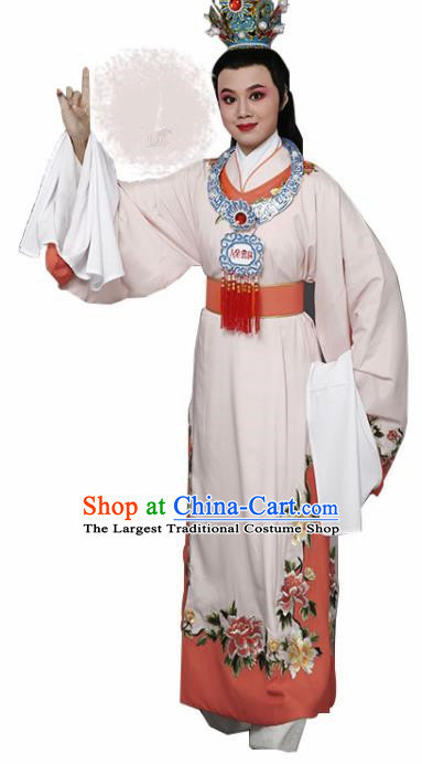 Handmade Chinese Beijing Opera Niche Pink Costume Traditional Peking Opera Nobility Childe Clothing for Men