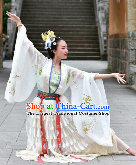 Traditional Chinese Tang Dynasty Court Dance Embroidered Hanfu Dress Ancient Drama Imperial Consort Historical Costume for Women