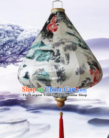 Handmade Traditional Chinese Lantern Ceiling Lanterns Ink Painting Lanterns New Year Lantern
