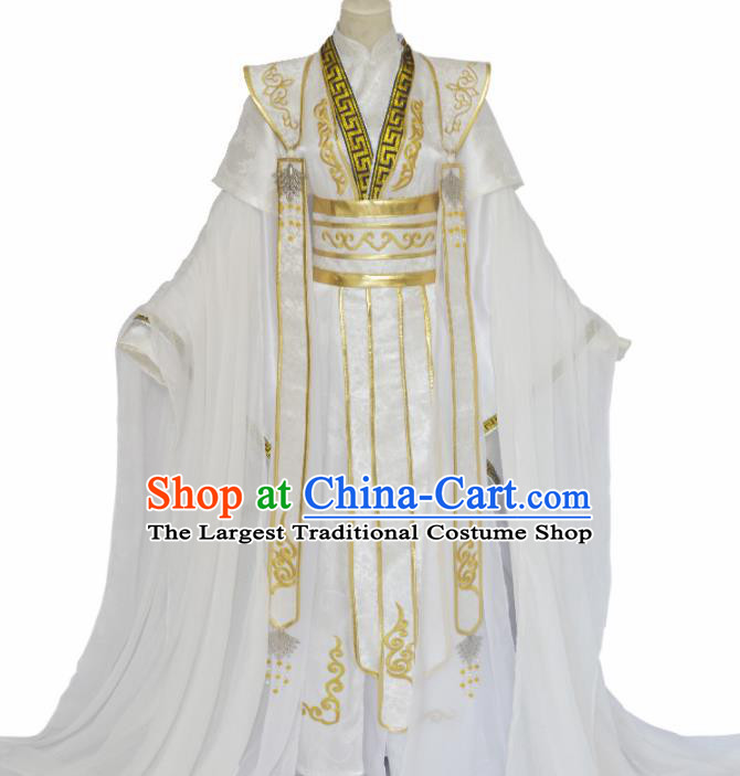 Traditional Chinese Jin Dynasty Nobility Childe Clothing Ancient Crown Prince Costume for Men